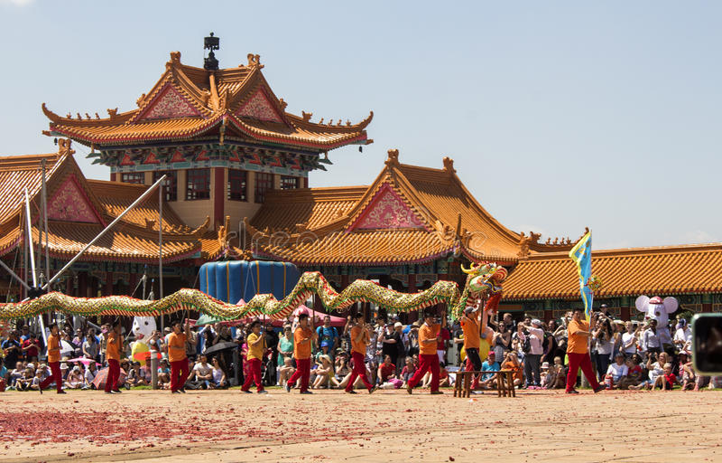 Parata cinese di nuovo anno La Sudafrica fotografia stock