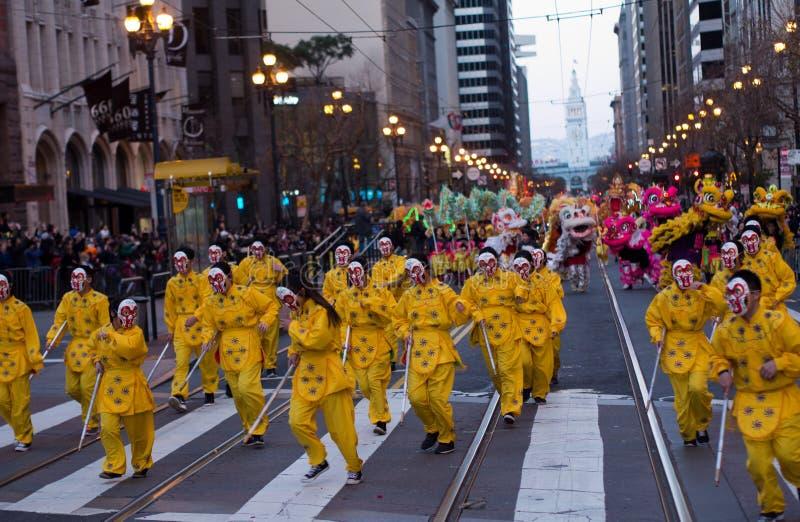 Parata cinese San Francisco 2016 CA, anno della scimmia fotografia stock libera da diritti