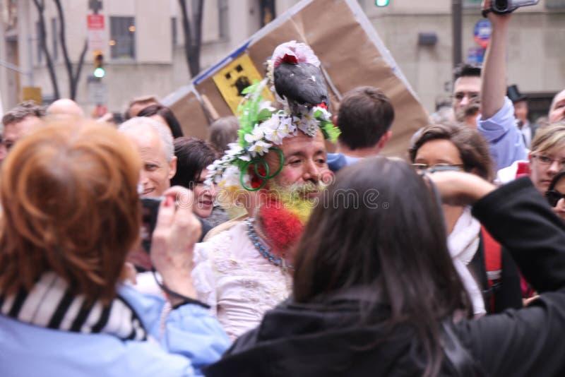 Parata dei cappelli di Pasqua fotografia stock libera da diritti