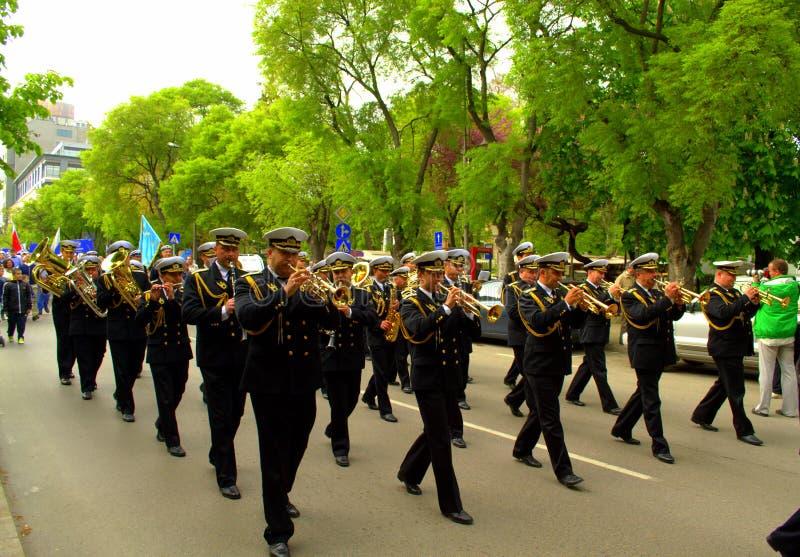 Parata del brass band fotografia stock libera da diritti
