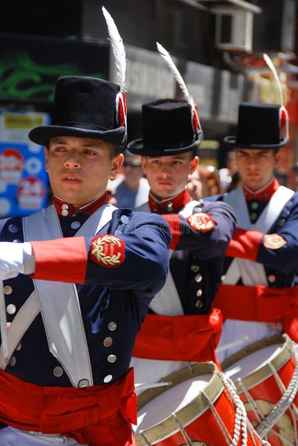 Parata del costume del soldato fotografia stock libera da diritti