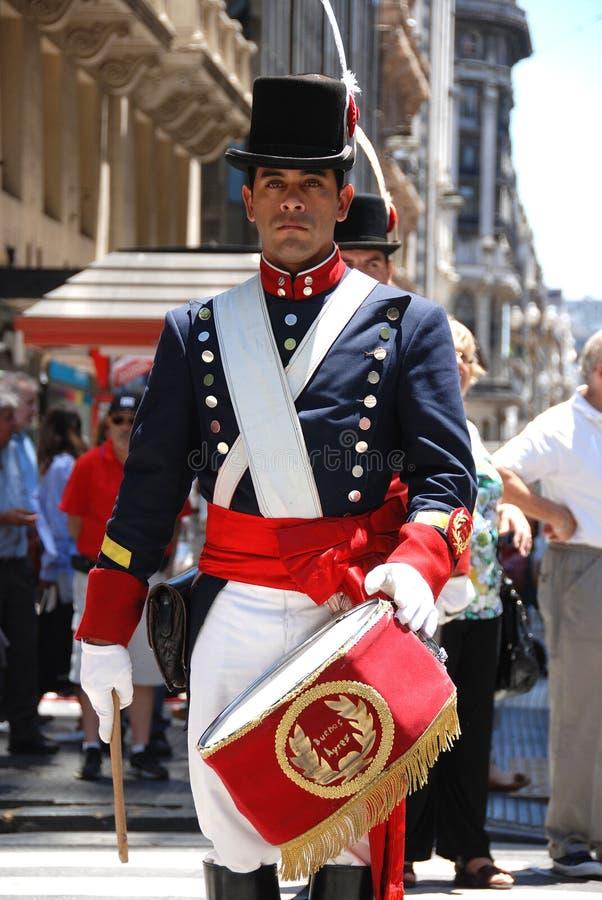 Parata del costume del soldato immagine stock