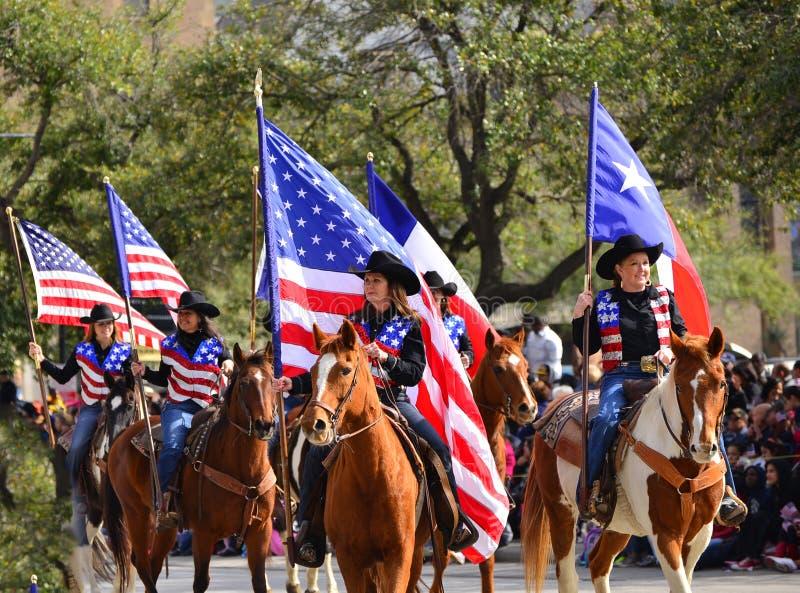Parata del rodeo e di Houston Livestock Show fotografia stock libera da diritti