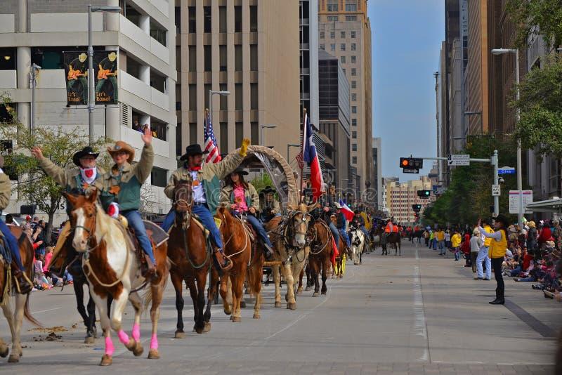 Parata del rodeo e di Houston Livestock Show fotografie stock libere da diritti