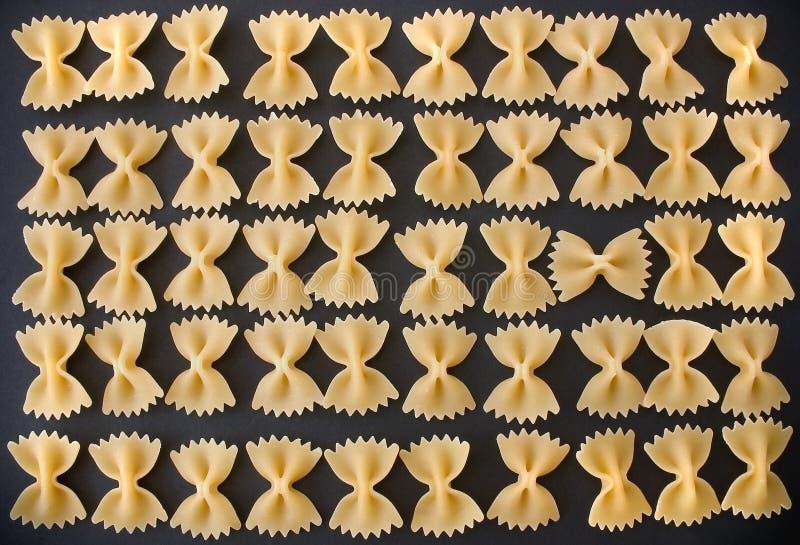 Parata della pasta - maccheroni immagine stock