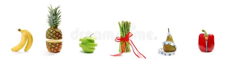 Parata della verdura e della frutta immagine stock