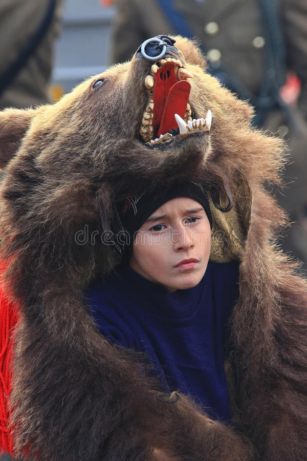 Parata di ballo dell'orso fotografie stock libere da diritti
