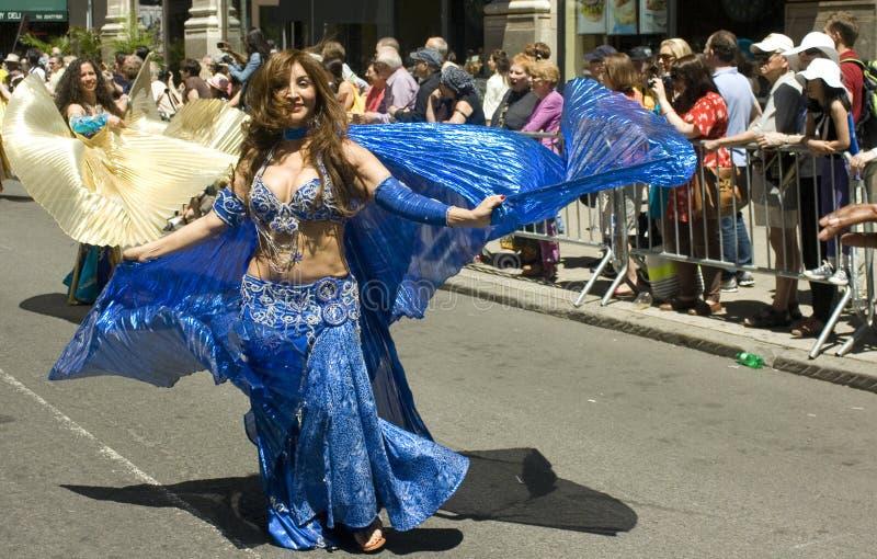 Parata di ballo di New York City fotografie stock libere da diritti