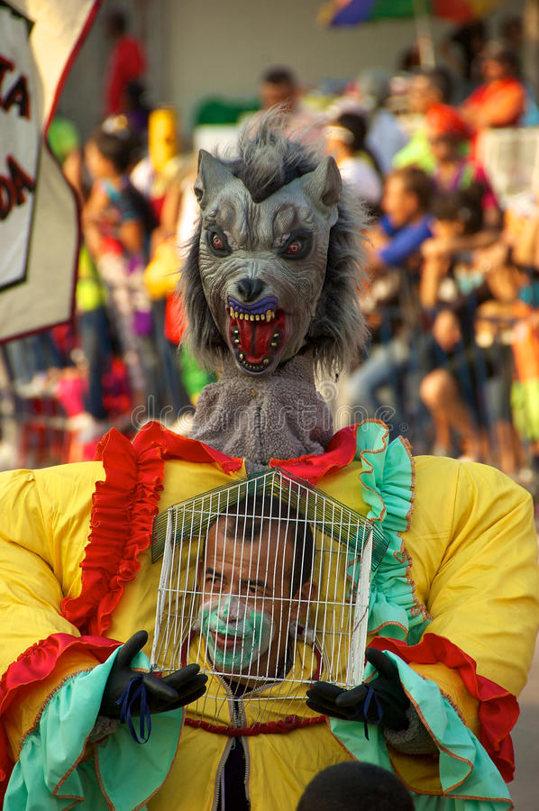 Parata di carnevale a Barranquilla, Colombia fotografia stock