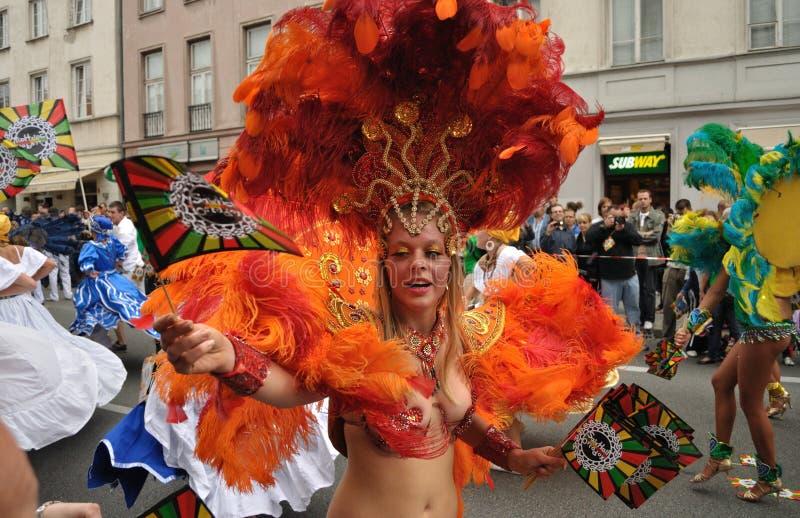 Parata di carnevale a Varsavia immagini stock libere da diritti