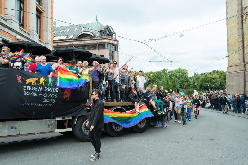 Parata di Europride a Oslo da Bergen fotografia stock