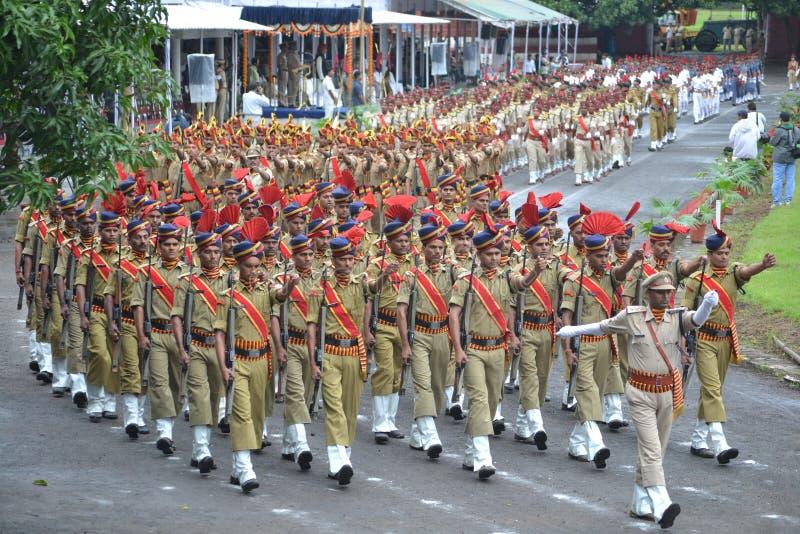 Parata di festa dell'indipendenza a Bhopal fotografie stock libere da diritti
