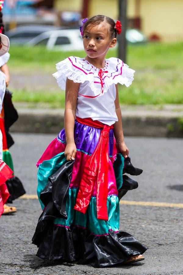 Parata di festa dell'indipendenza, Costa Rica immagine stock libera da diritti