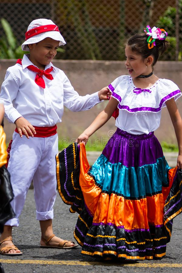 Parata di festa dell'indipendenza, Costa Rica immagini stock libere da diritti