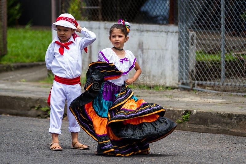 Parata di festa dell'indipendenza, Costa Rica fotografie stock