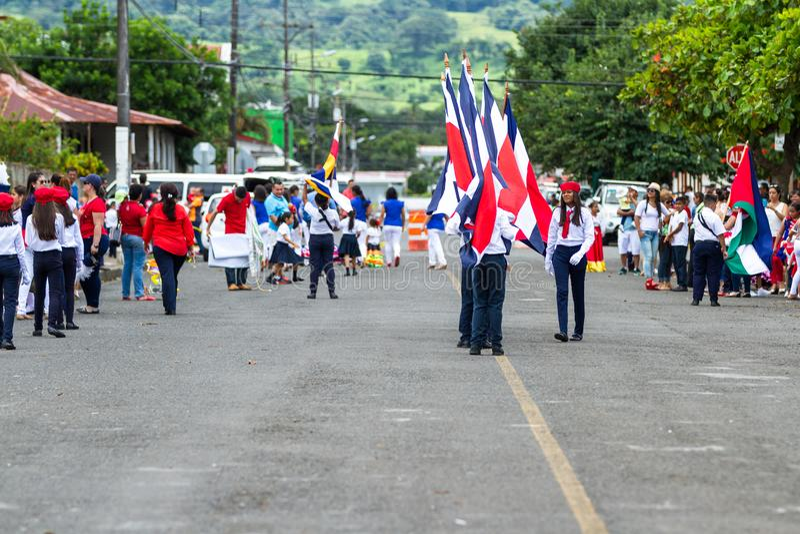Parata di festa dell'indipendenza, Costa Rica immagini stock