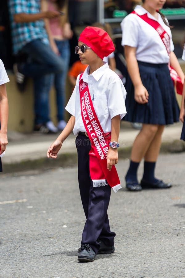 Parata di festa dell'indipendenza, costo Rica fotografie stock libere da diritti