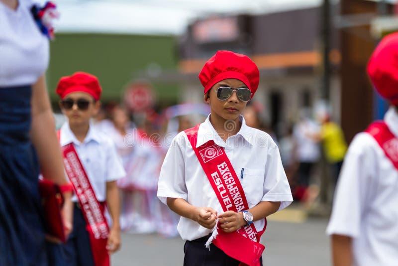 Parata di festa dell'indipendenza, costo Rica fotografia stock
