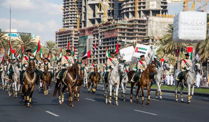 Parata di festa nazionale dei UAE immagini stock libere da diritti