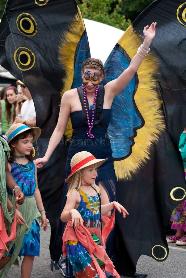 Parata di festival di sorgente della sosta di Inman a Atlanta GA fotografie stock libere da diritti