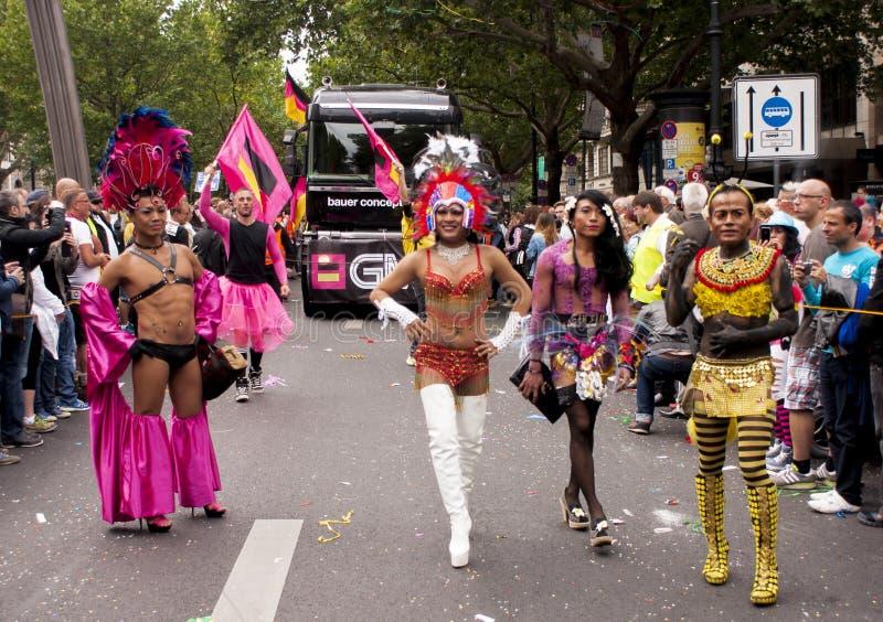 Parata di gay pride a Berlino immagine stock libera da diritti