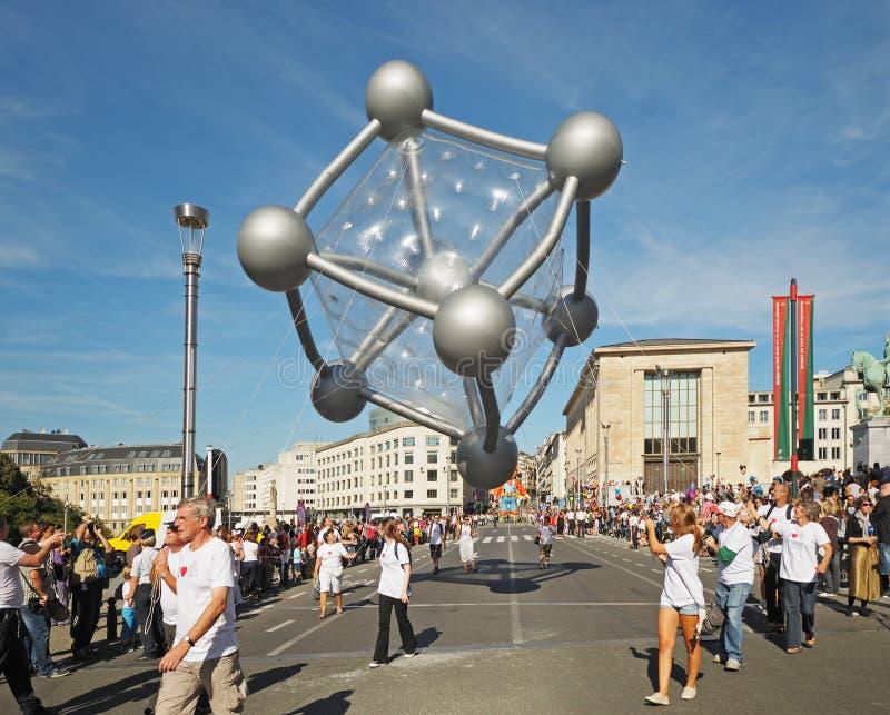 Parata di giorno dei palloni immagini stock libere da diritti