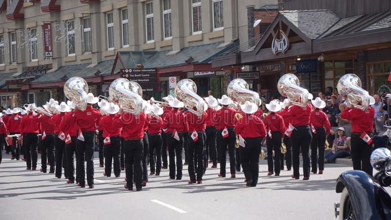 Parata di giorno del Canada in Banff immagine stock