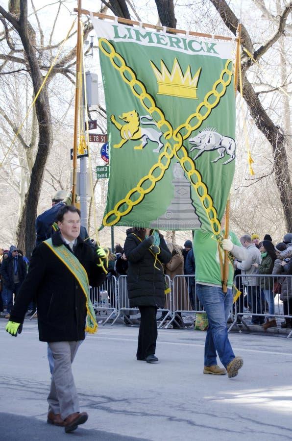 Parata di giorno del ` s di New York San Patrizio immagine stock libera da diritti