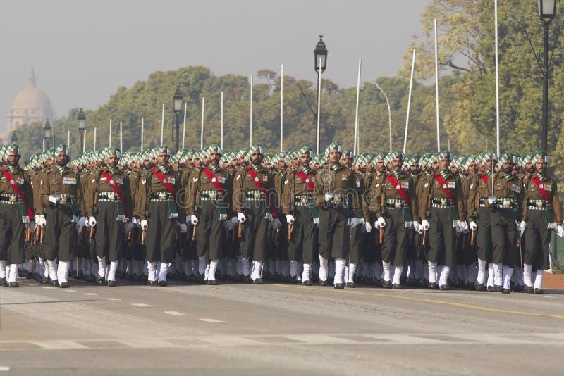 Parata di giorno della Repubblica, Nuova Delhi, India immagine stock libera da diritti