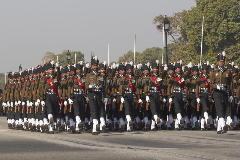 Parata di giorno della Repubblica, Nuova Delhi, India immagini stock