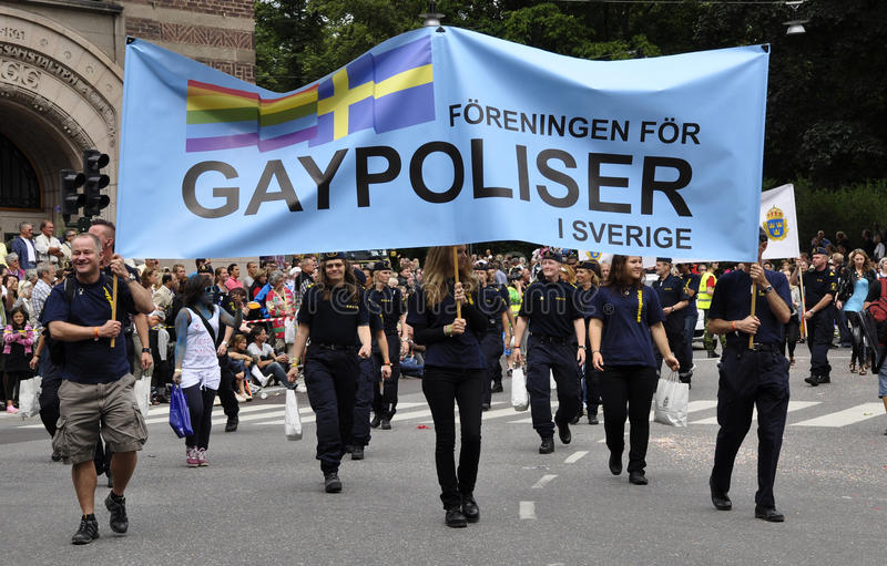 Parata di orgoglio di Stoccolma immagine stock libera da diritti