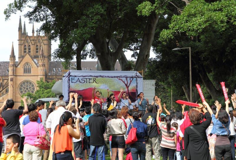 Parata di Sydney Pasqua immagini stock