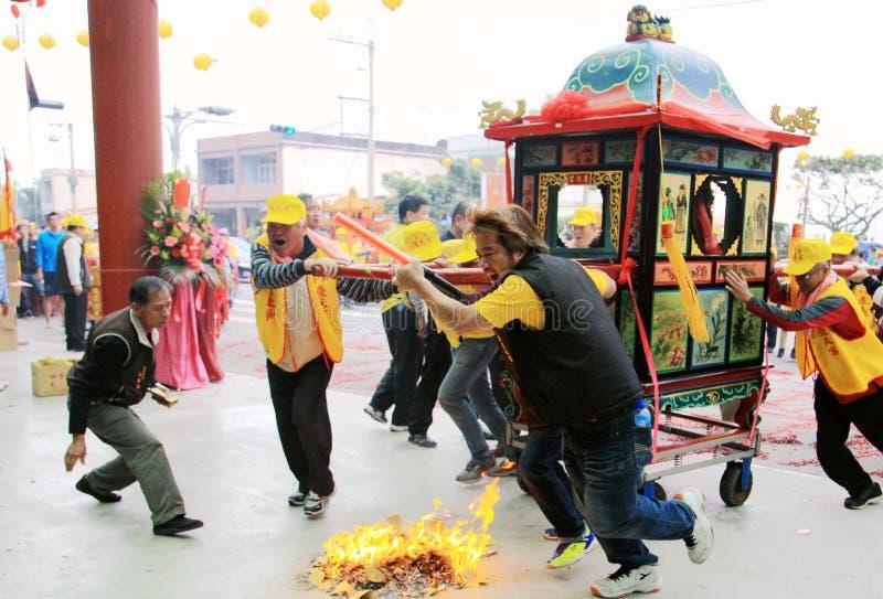 Parata giusta del tempio cinese in Taiwan immagini stock libere da diritti