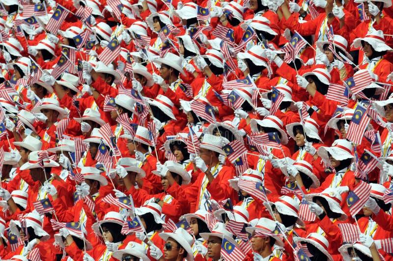 Parata indipendente di giorno della Malesia fotografie stock libere da diritti