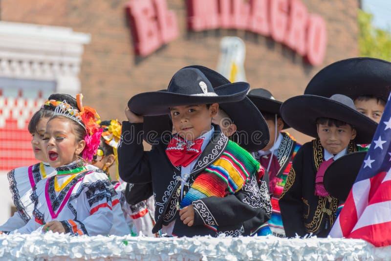 parata messicana Chicago di festa dell'indipendenza della ventiseiesima via fotografie stock