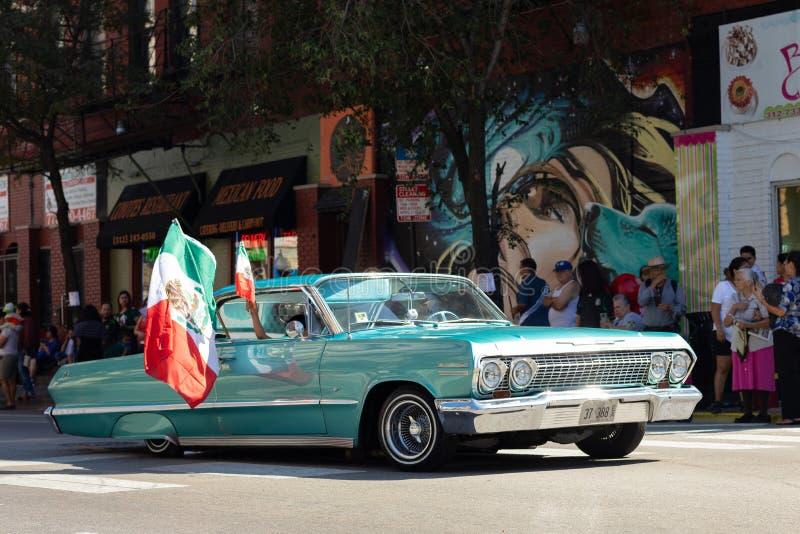 Parata messicana 2018 di festa dell'indipendenza di Pilsen immagini stock libere da diritti