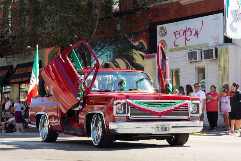 Parata messicana 2018 di festa dell'indipendenza di Pilsen immagine stock