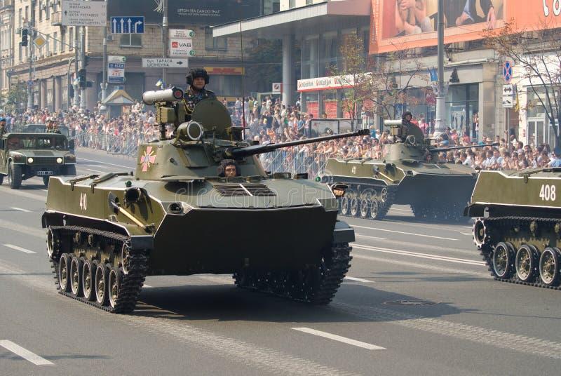 Parata militare a Kiev fotografia stock