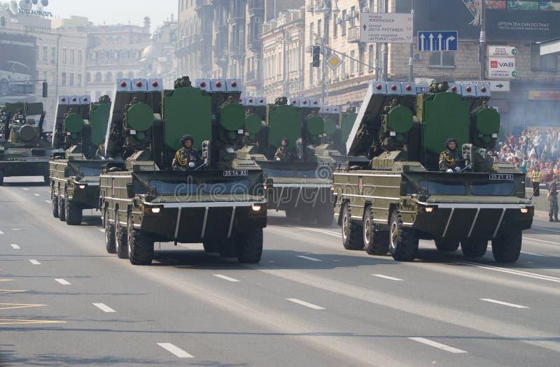 Parata militare a Kiev fotografia stock libera da diritti