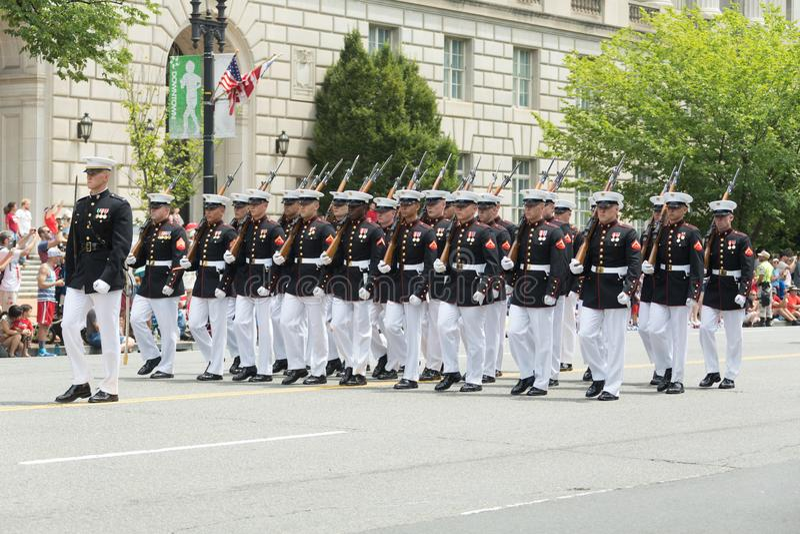 Parata nazionale di festa dell'indipendenza fotografia stock
