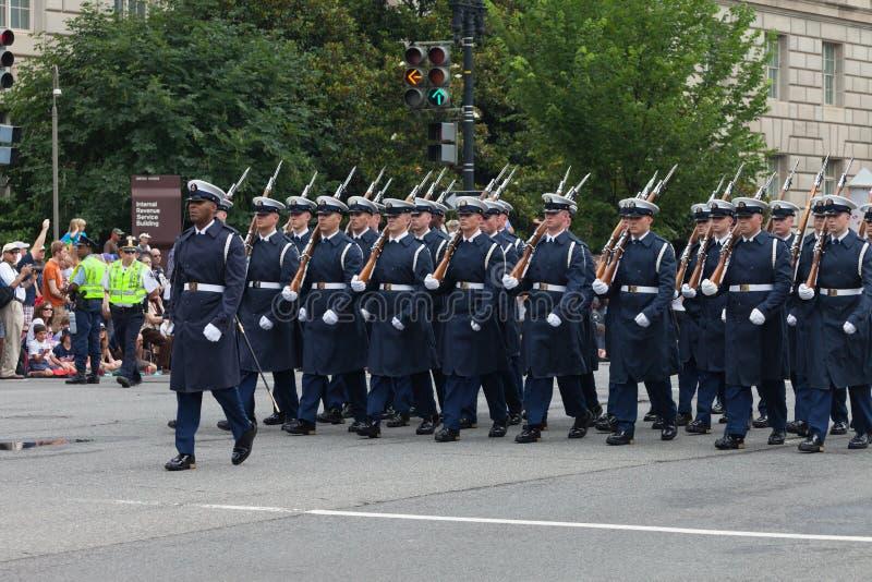 Parata nazionale di festa dell'indipendenza fotografie stock