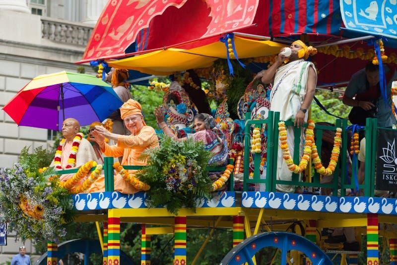 Parata nazionale di festa dell'indipendenza fotografia stock libera da diritti
