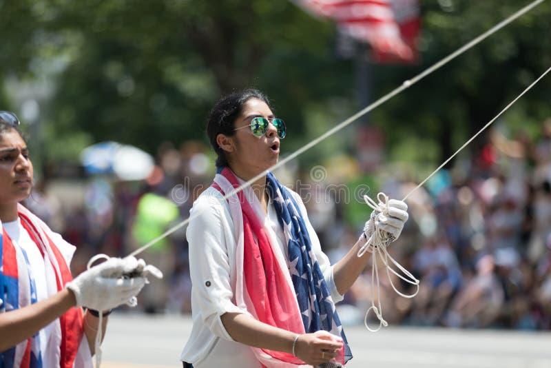 Parata nazionale 2018 di festa dell'indipendenza immagini stock