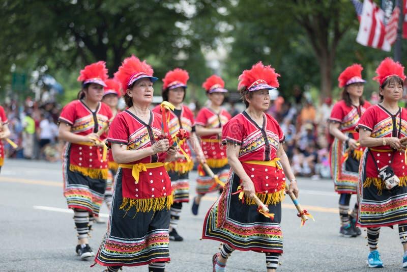 Parata nazionale 2018 di festa dell'indipendenza fotografie stock