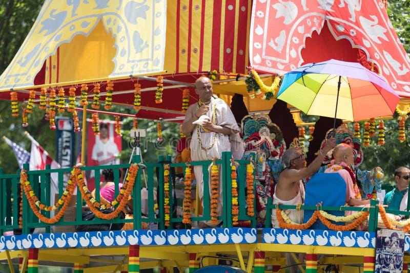 Parata nazionale 2018 di festa dell'indipendenza fotografia stock libera da diritti