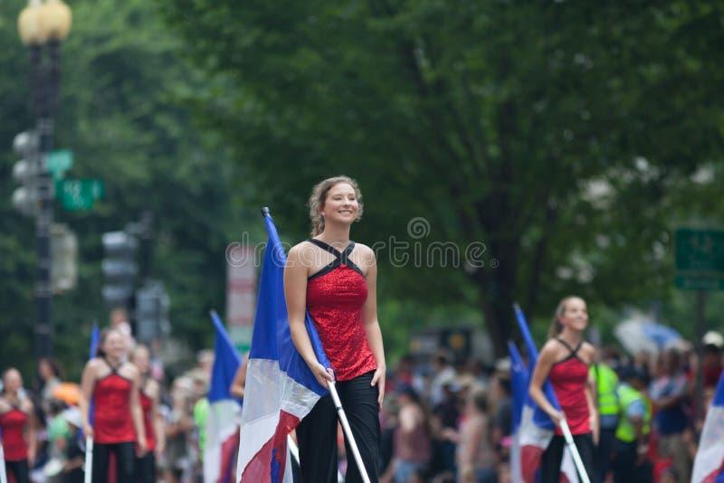 Parata nazionale 2018 di festa dell'indipendenza fotografia stock