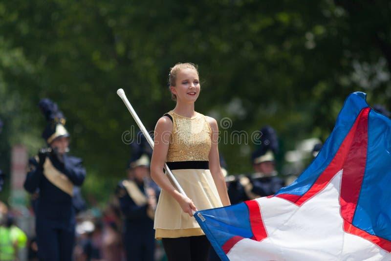 Parata nazionale 2018 di festa dell'indipendenza immagine stock libera da diritti