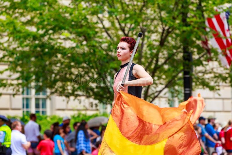 Parata nazionale 2015 di festa dell'indipendenza fotografia stock libera da diritti
