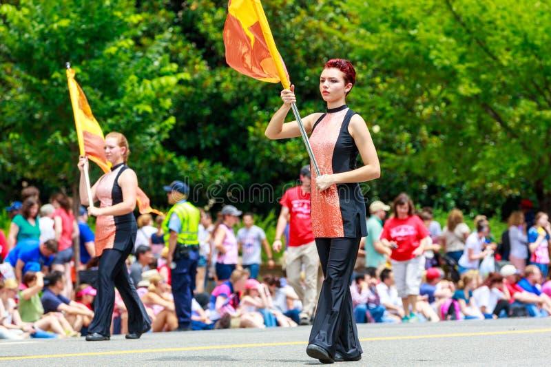 Parata nazionale 2015 di festa dell'indipendenza immagini stock libere da diritti