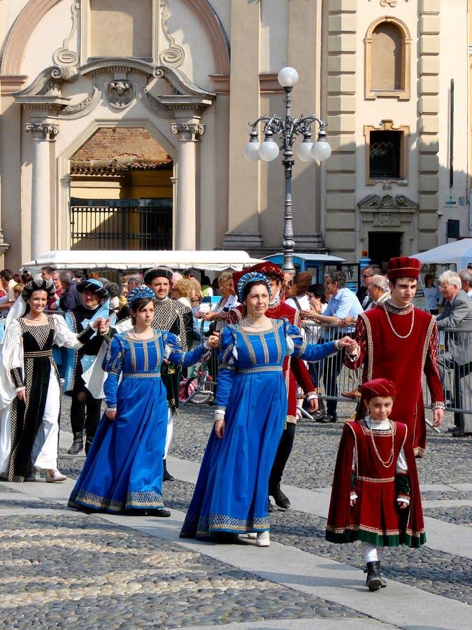 Parata storica in Vigevano fotografia stock libera da diritti